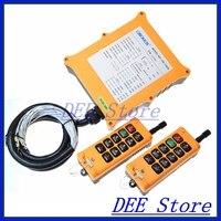 Mejor 8 canales 2 velocidades 2 transmisores polipasto camión Radio Control remoto botón interruptor sistema controlador