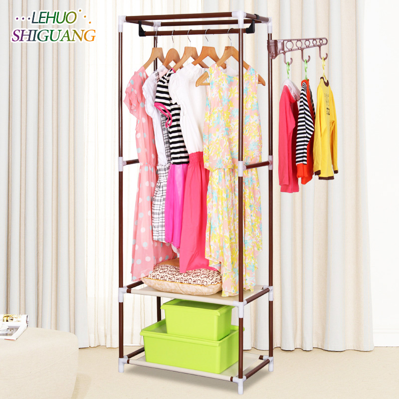 Simple coat rack multifunctional floor bedroom hangers Creative stylish interior hangers occupy small space furniture