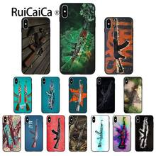 Ruicaica AK47 Gun DIY Printing Drawing Phone Case cover Shell for Apple iPhone 8 7 6 6S Plus X XS MAX 5 5S SE XR Mobile Cases(China)