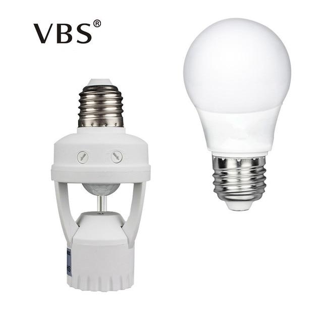 Led Beleuchtung Bewegungsmelder   1 Satz Pir Bewegungsmelder Lampe Halter Led Lampe Basis E27 5