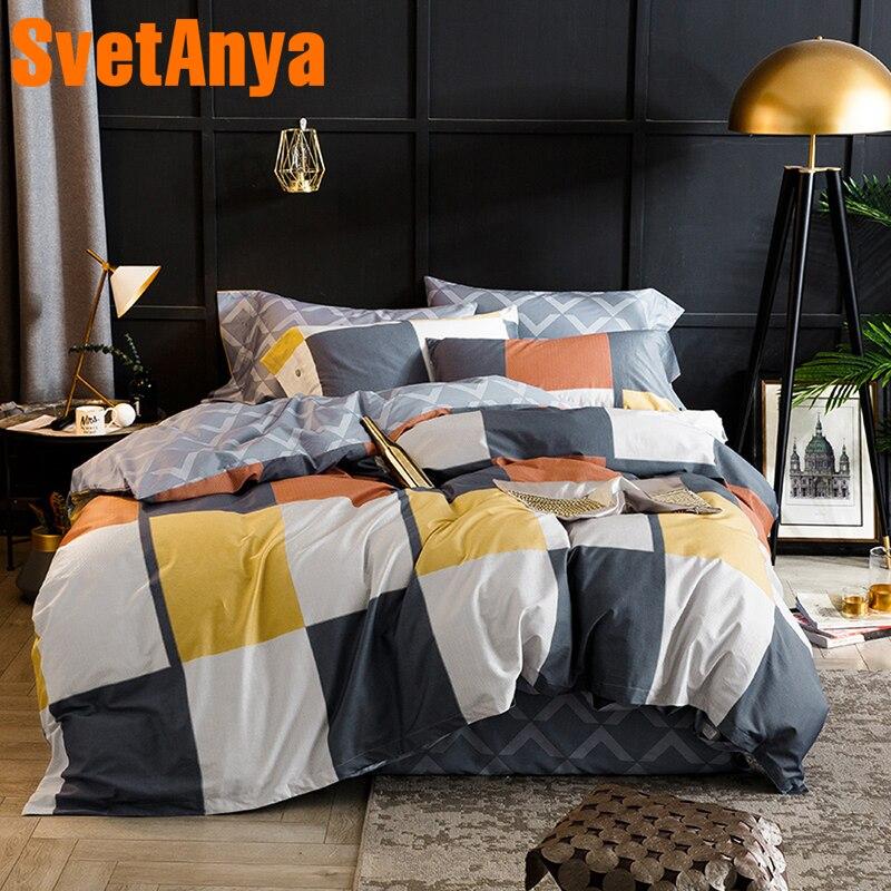 Svetanya плед постельного белья из египетского хлопка лист наволочки постельное белье Twin queen король двойной Размеры