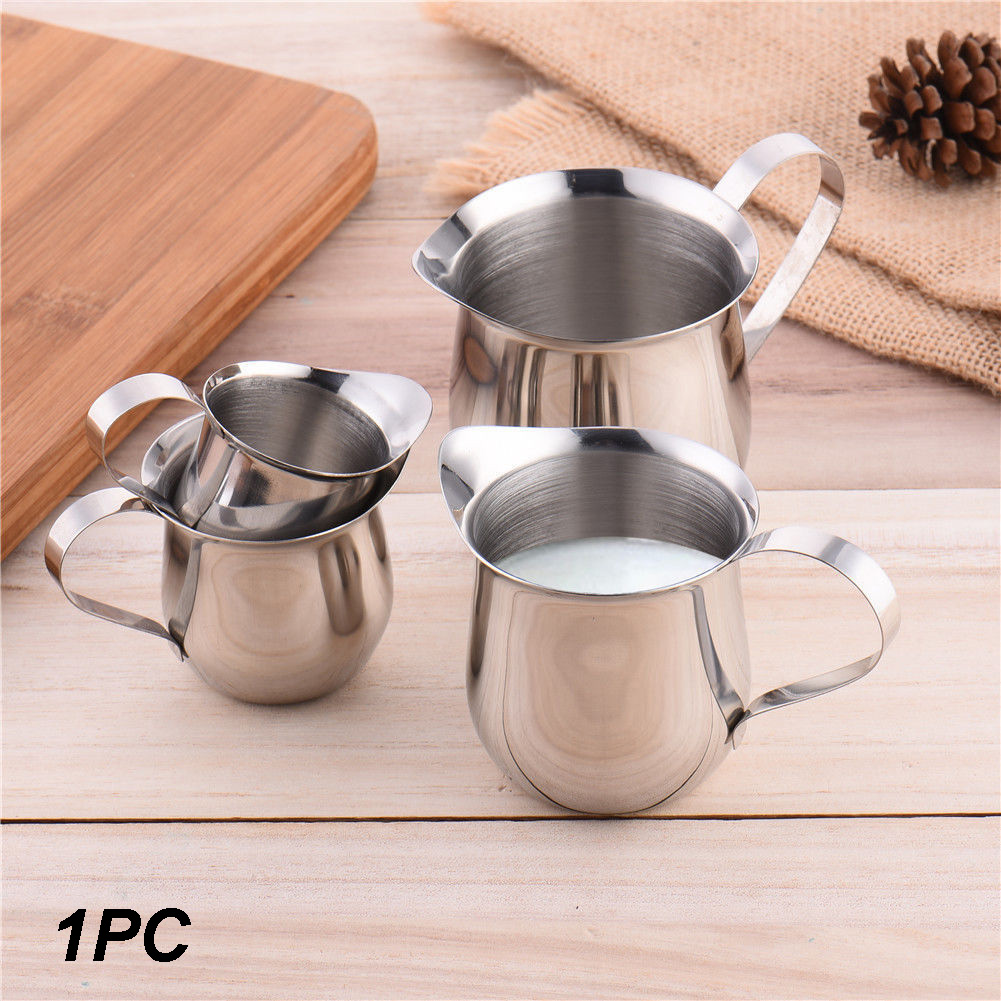 Milk Coffee Pot Stainless Steel Pitchers Foam Container Mug Cup Jug