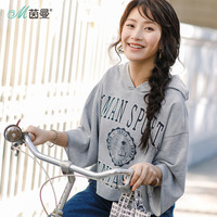 INMAN 2019 New Products Women Spring Hooded Printing Pullover Hoodies Women