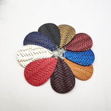 2019 new earrings double-sided leather drop earrings fashion big earrings for women gift jewelry earrings 9 colors P293-P301 p301 16 auo p301 16