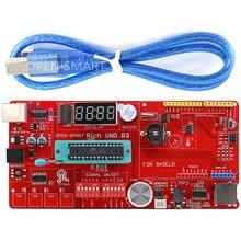 עשיר תכליתי UNO R3 Atmega328P פיתוח לוח לarduino UNO R3 עם MP3/DS1307 RTC/טמפרטורה/מגע חיישן מודול