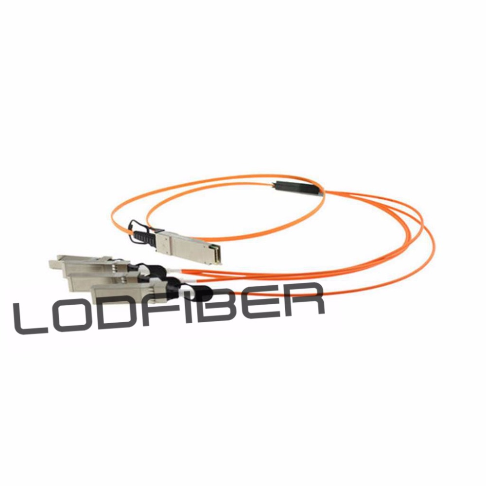 1m (3ft) Extreme Networks 10GB-4-F01-QSFP Compatible 40G QSFP+ to 4x10G SFP+ Breakout Active Optical Cable1m (3ft) Extreme Networks 10GB-4-F01-QSFP Compatible 40G QSFP+ to 4x10G SFP+ Breakout Active Optical Cable