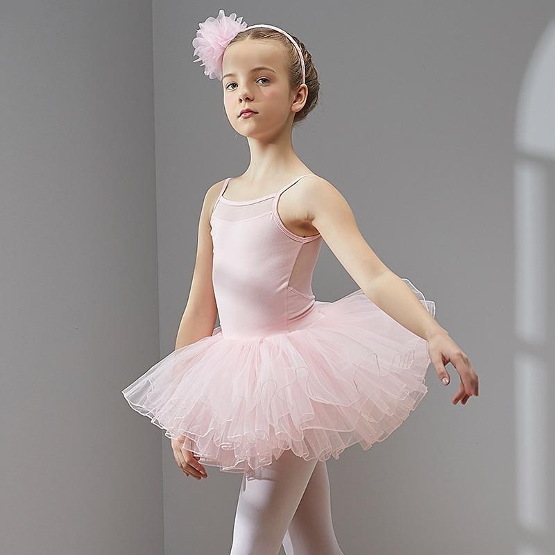 Ballet Dress Dance Dress Tutu Dress For Girls Kids Children High Quality Short Sleeves Tulle Dance Wear