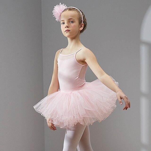 ชุดบัลเล่ต์เต้นรำชุด Tutu สำหรับสาวเด็กเด็กคุณภาพสูงแขนสั้น Tulle เต้นรำ