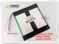 7 4V 8000mAH 37130125 Polymer Lithium Ion Battery For Tablet Pc Pipo Cube Onda Ampe