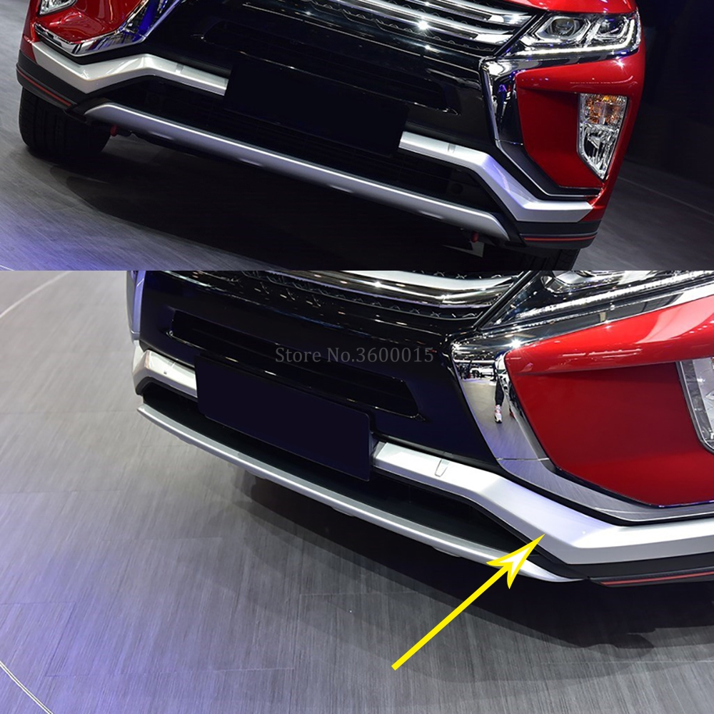 For Mitsubishi Eclipse Cross 2017 2018 2019 Matte Car Front Bumper side Racing Grills Center Grille Around Trim Cover Chromium Styling     - title=