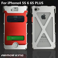 Luxury Doom Armor King Dirtproof Shockproof Metal Cell Phone Case Cover For Iphone 4 4s 5