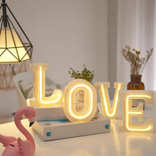 JSEX ELED Alphabet Lamp USB Battery Letters Lights Neon Light Night light Holiday Lighting Table Wedding Christmas Decoration