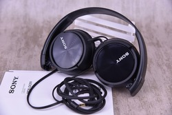 SONY 98% New  MDR-ZX330BT Bluetooth wireless Stereo Headset, Black with mic NFC