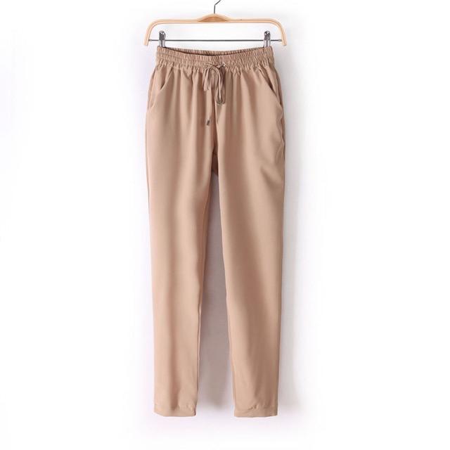 Forró divat alkalmi leggings Női rugalmas derék Slim Fit teljes - Női ruházat