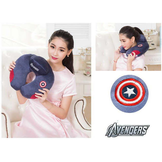 US $9 88 35% OFF Avengers Charater U Shape Neck Pillow Office Airplane Car  Travel Sleep Pillow Neck Body Head Support Home Decorative Pillows-in
