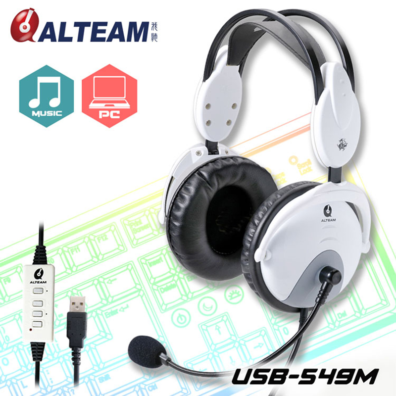 все цены на For professional PC gamer usb connector stereo sound with flexible uni-directional booming microphone gaming headsets