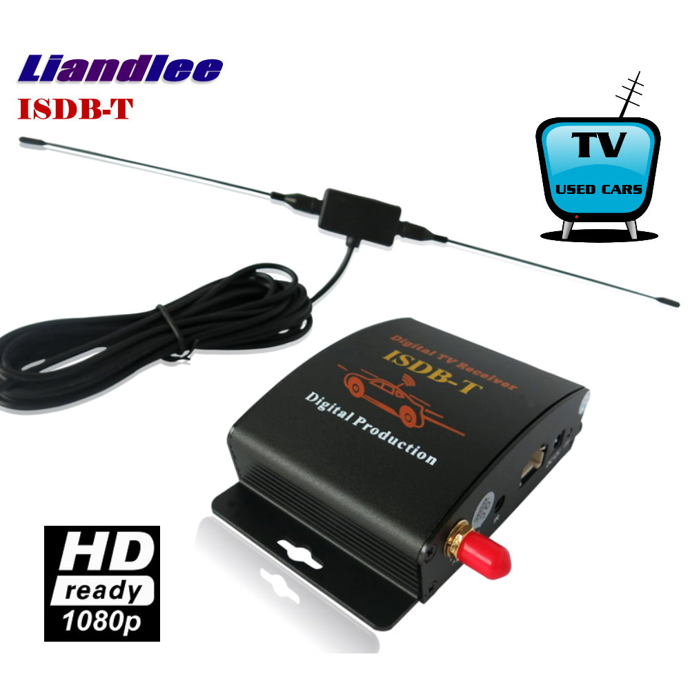 Liandlee Car Digital TV Receiver ISDB-T Mobile SDHD 1080P CVBS Turner Host TV Antenna For South America / Model ISDB-T-M-388X isudar digital tv receiver for car tv tuner isdb t 2 way video out put for japan brazil south america free shipping