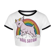 YX Girl 2019 Summer Women rainbow unicorn 3D print Slim Short Sleeve O-neck Tees for 3d PrintTshirt Streetwear