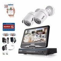 Sannce 10 ЖК дисплей монитор 4CH DVR 720 P видеонаблюдения Системы 2 шт. 1.0MP 1200TVL ИК Открытый безопасности Камера видео комплекты видеонаблюдения