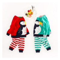 Winter Spring Baby Clothing Set Newborn Boys Girls Warm Knitted Sweater Suit Infant Cute Cartoon Patten