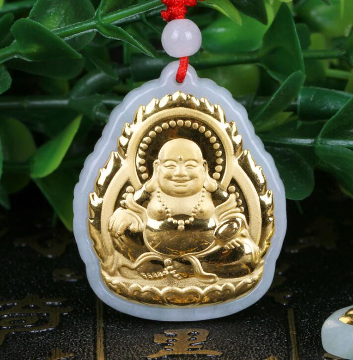 2018 nuevas ventas calientes del diseño calidad superior buena suerte Buda hombre mujer colgante collar