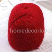 400m Red Soft Cashmere Wool Knitting Handcraft Yarn Craft Sweater scarf Making