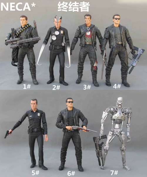 New hot 18cm terminator 5 t-800 t-1000 cyberdyne pvc action figure toys...