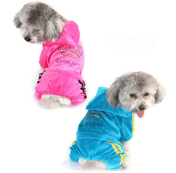 New autumn winter dogs cats jumpsuits costume doggy warm soft hoodies clothes puppy sweatershirts pet dog suit outwear 10pcs