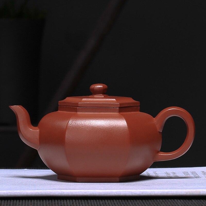 PINNY 140ml Yixing Purple Clay Six square Teapot Traditional Chinese Tea Set Purple Sand Tea Pots