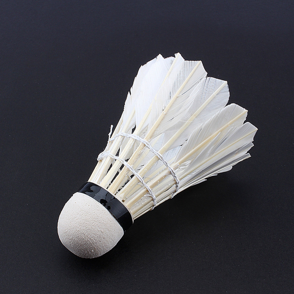 3pcs Game Sport Training White Duck Feather Shuttlecocks Badminton Ball LY Bälle