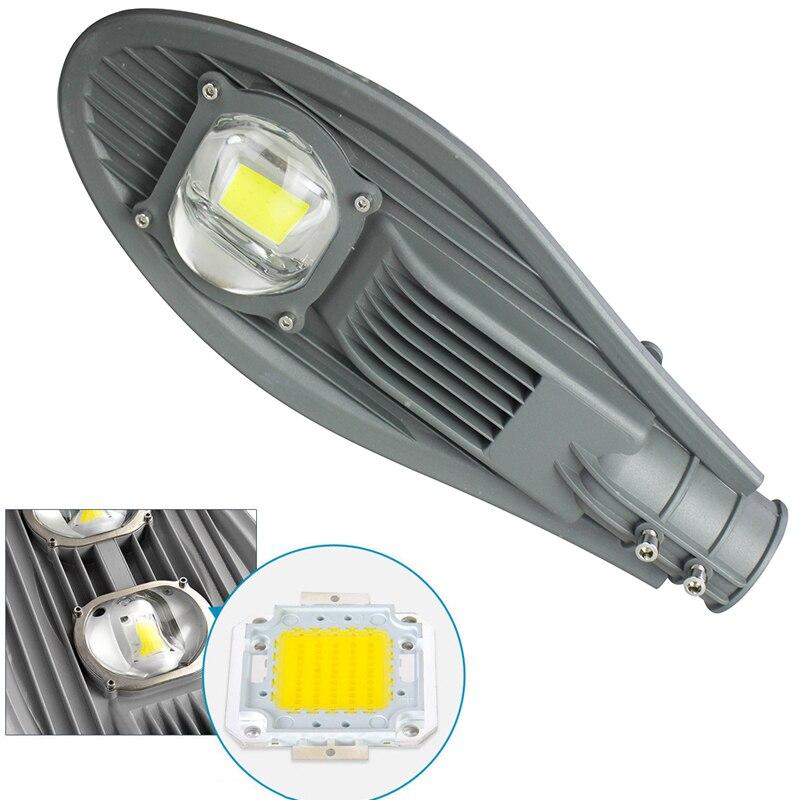 1 stücke 30W 50W Led Straße Licht Wasserdicht IP65 AC165-265V Führte Straßenbeleuchtung Straße Garten Lampe Warm/Kalt weiß Strahler Wand Lampe