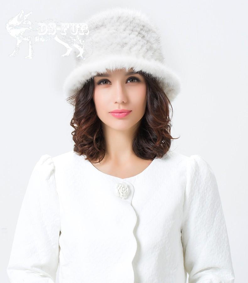 Weave real mink fur hat01