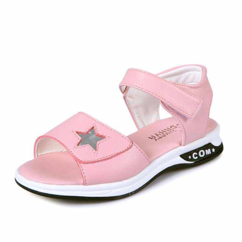 Children's shoes PU leather sandals for girls princess fashion sandals soft sole kids summer sandals boys girls shoes size 27-37
