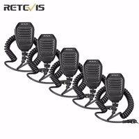5pcs Retevis RS 113 2 Pin Remote Heavy Speaker Mic For Baofeng UV5R Retevis H777 RT21