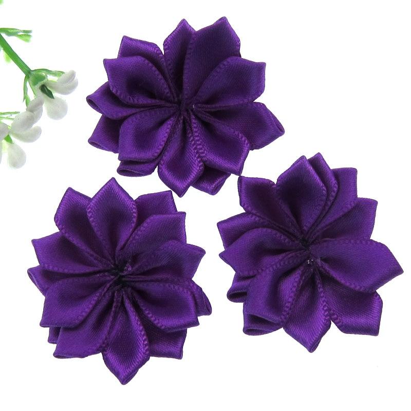 Children/'s//Adolescente//púrpura flor fimo de niño Anillo en plata tono ajustable