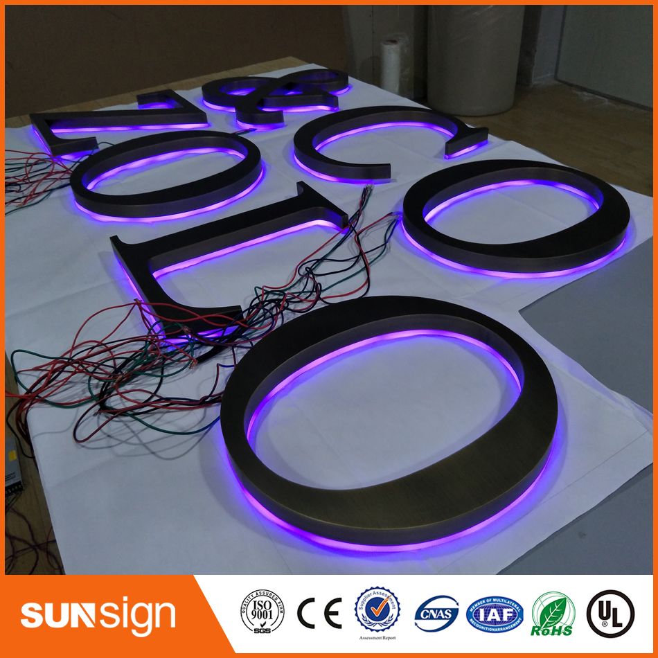 Wholesale Metal Letter Signs LED Channel Signs Stainless Steel Backlit Letter For Building Advertising