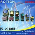 1-3 Вт, 4-7 Вт, 8-12 Вт, 15-18 Вт, 20-24 Вт, 25-36 Вт СВЕТОДИОДНЫЙ драйвер источник питания встроенный в постоянный ток Освещения 85-265 В Выход 300mA Трансформатор