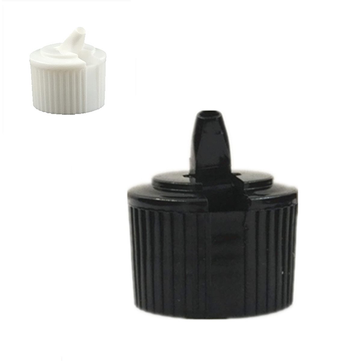 24-410 Ribbed Side Plastic Spout Top Caps Dispensing TURRET Cap 10pc