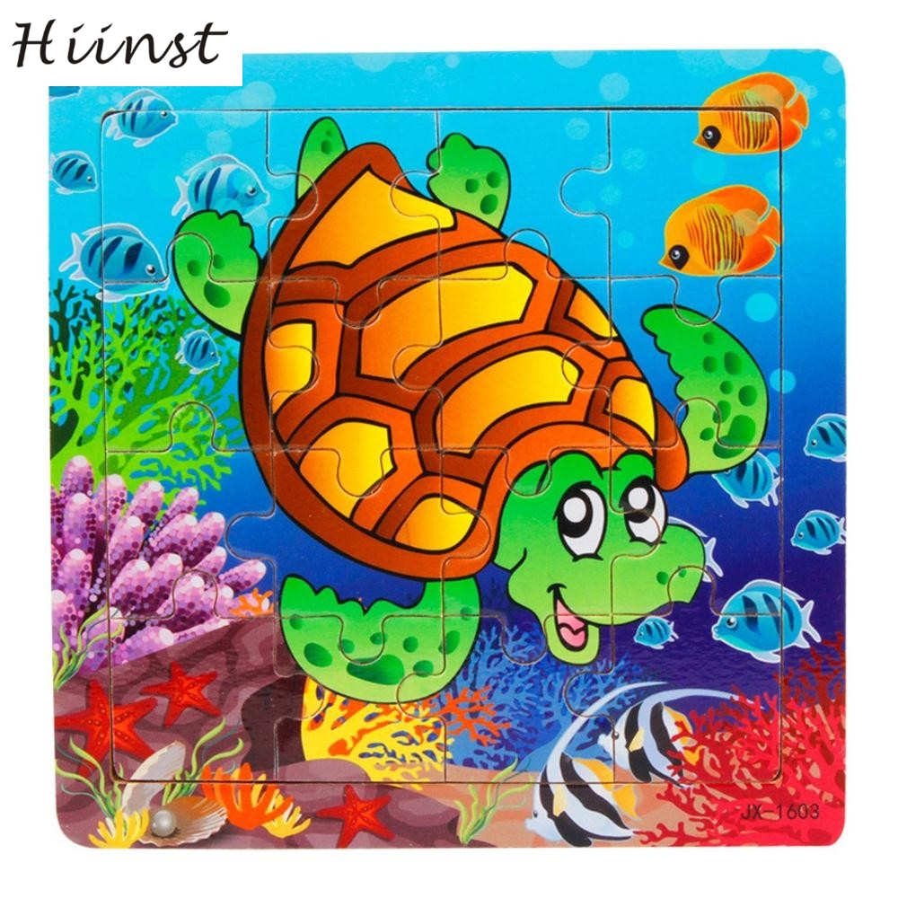HIINST toys kids 2017 Wooden Kids Piece Jigsaw Toys For Children Education And Learning Puzzles Toys wholesale*R Drop