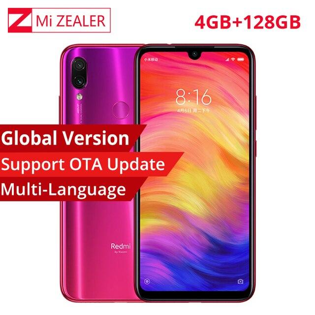 """Versão global xiaomi redmi nota 7 4 gb 128 gb telefone móvel snapdragon 660 4000 mah 48mp 5mp câmeras duplas 6.3 """"tela cheia"""