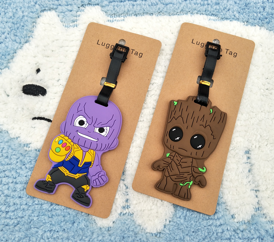IVYYE Guardians Groot Anime Travel Accessories Luggage Tag Suitcase ID Address Portable Tags Holder Baggage Label New