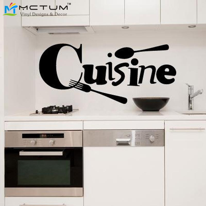 cuisine french vinyl wall stickers wallpaper sticker mural art poster wall sticker kitchen wall decal decoration