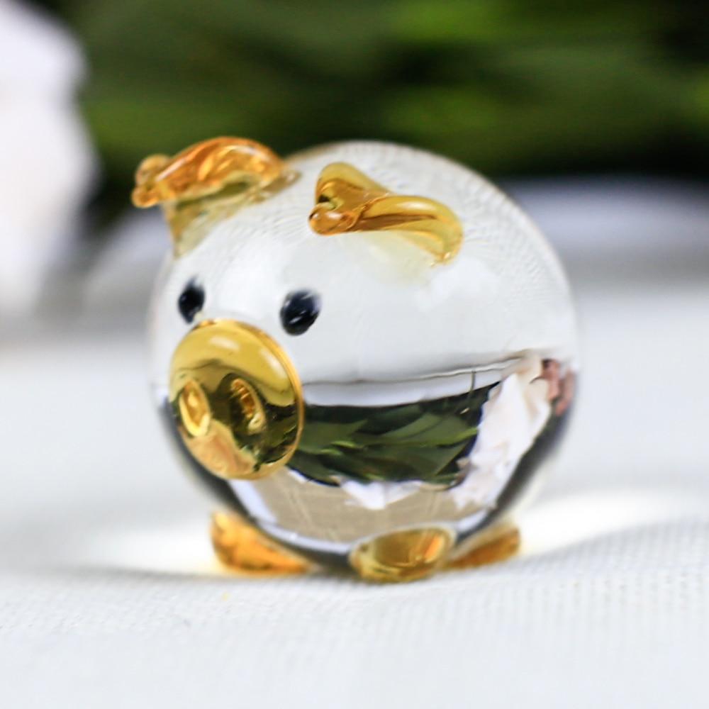 K9 Kristall Schwein Figuren Miniaturen Glas Tier Miniatur Haus - Wohnkultur - Foto 4