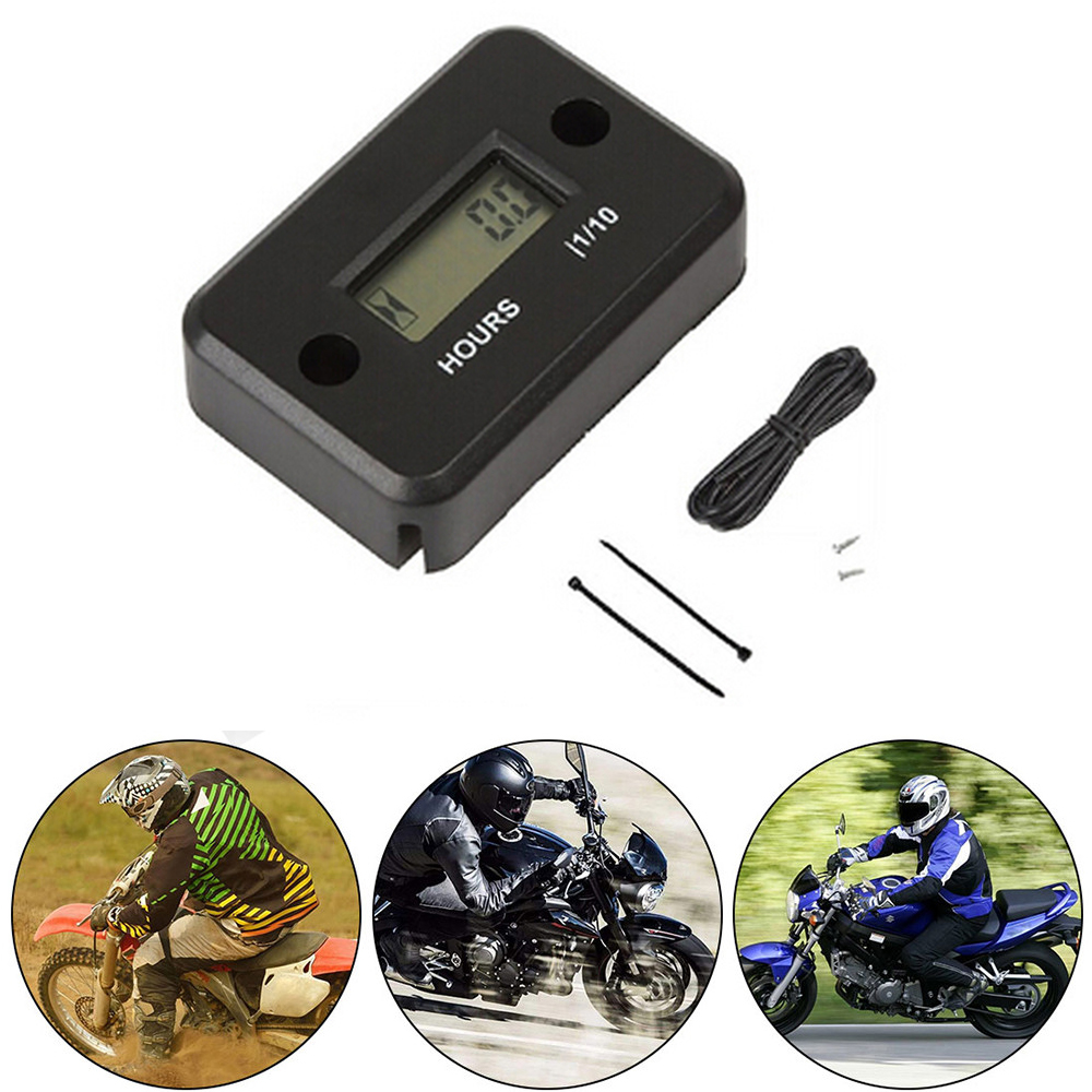 Image 5 - Hour Meter Motorcycle Gauge LCD Display Hour Meter for 4 Stroke Gas Engine Offroad Panel Hour ATV Motorcycle Generator Bike-in Instruments from Automobiles & Motorcycles