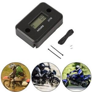 Image 5 - 시간 측정기 오토바이 게이지 LCD 디스플레이 시간 측정기 4 스트로크 가스 엔진 오프로드 패널 시간 ATV 오토바이 자전거