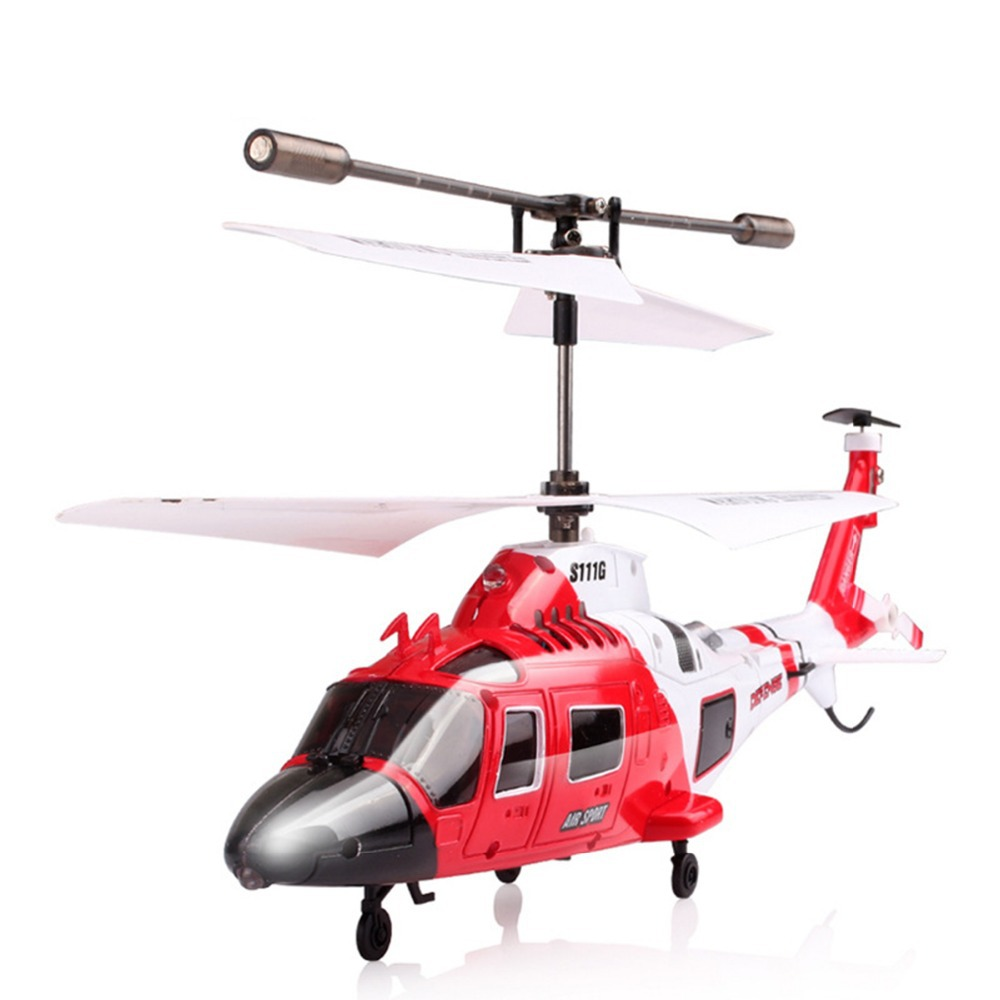 Syma s111g gyro electric 3ch 3 channel metal infrared mini for Helicoptere syma