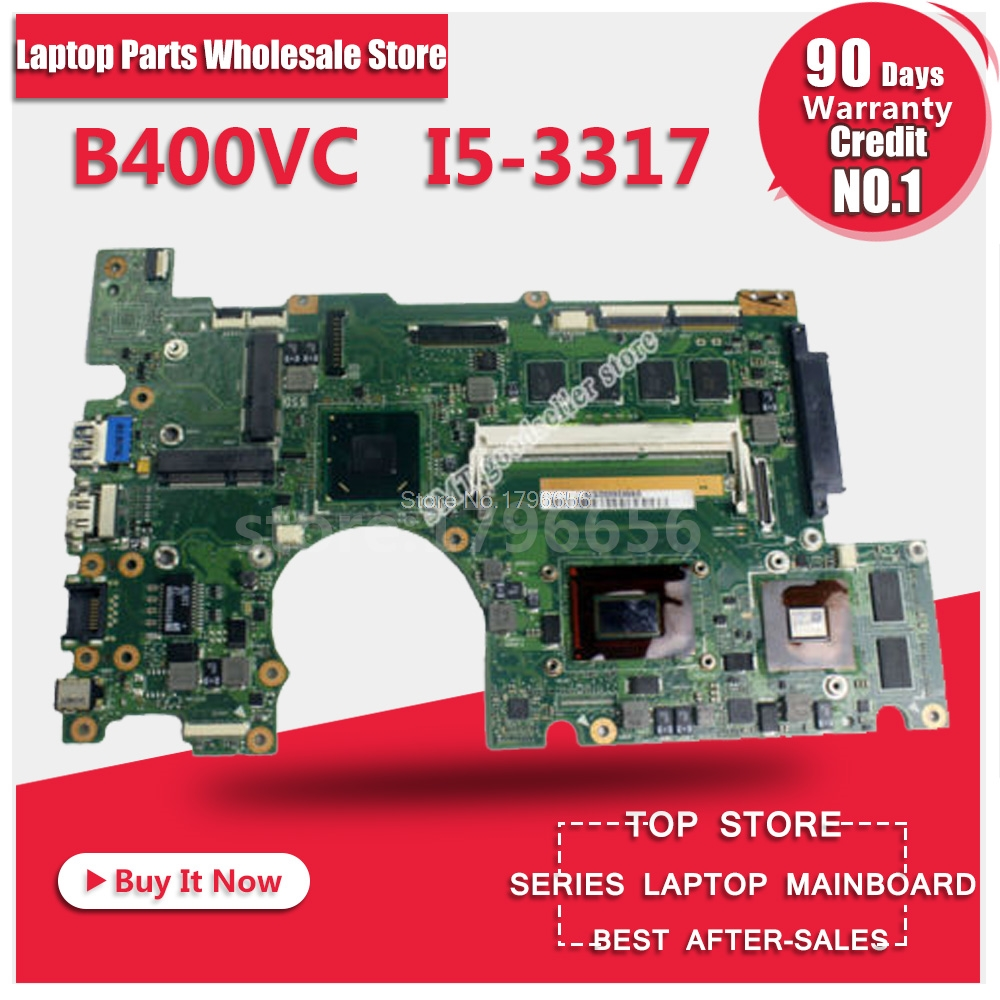 FOR Asus Motherboard B400V B400VC REV2.1 Mainboard I5-3317U Processor 4G Memory