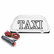 New Waterproof Taxi Light LED Roof Sign Taxi Dome Light With 3 Meter power plug line Compatible with Driver Practitioners used smart taxi meter with printer taxi fare meter calculator lcd display taxi fare meters