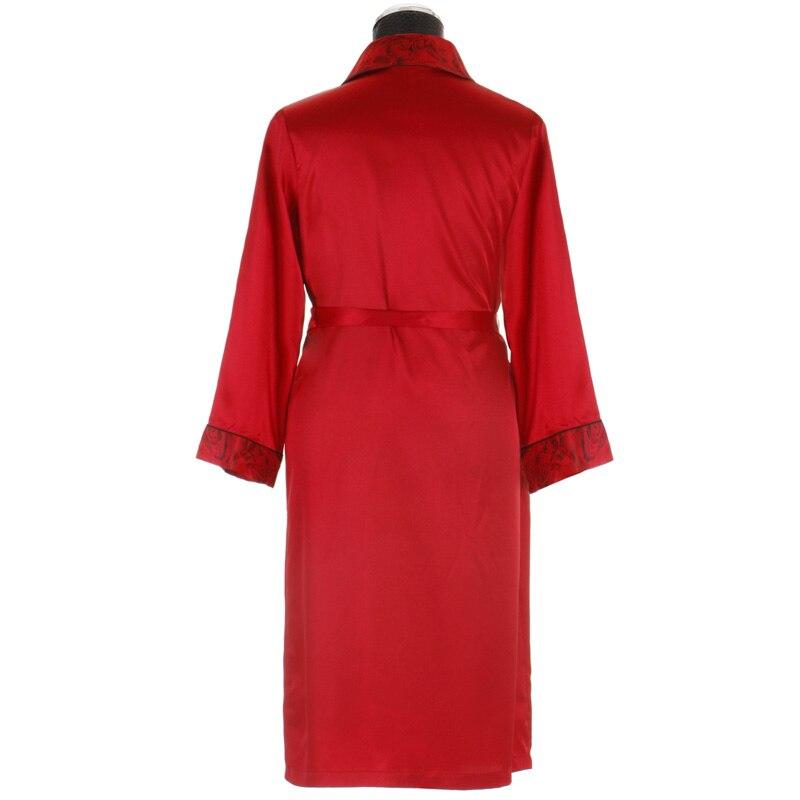 Couples Bathrobe Couple Sleepwear Satin Silk Robe for Men & Women ...