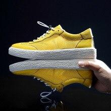Mens shoes Summer breathable mesh shoes Korean casual shoes men Genuine Leather cowhide sneaker fashion boots Leisure shoes korean casual shoes mens genuine leather breathable sneaker fashion boots men leisure shoes all match cowhide mens loafers